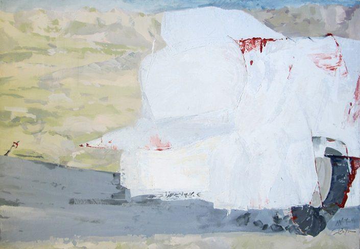 Boro be omide khoda - Oil on canvas - 100 x 70 cm